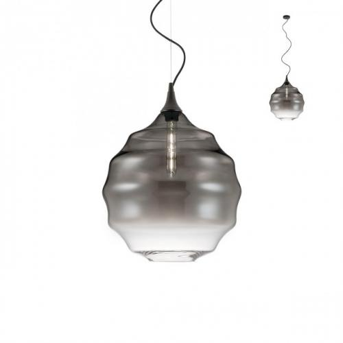 REDO GROUP - Пендел SLAG 01-1844 E27 D400 SMOKY GREY SHADOW/MATT BLACK