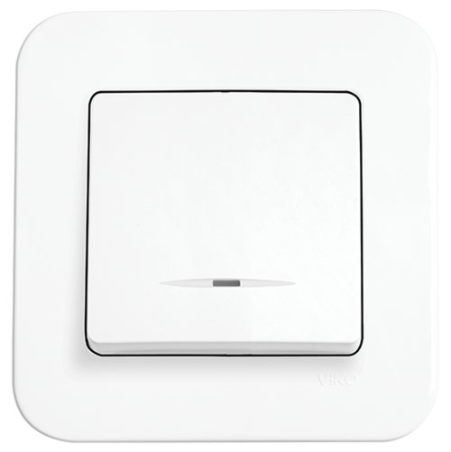 VIKO - One-way Switch, Illuminated 90420019 white