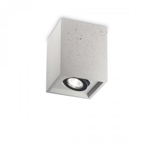 IDEAL LUX - Плафон OAK PL1 SQUARE Cemento 150475