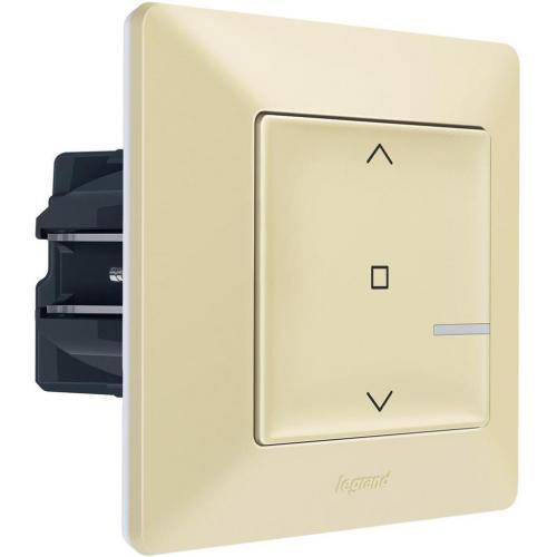 LEGRAND - Свързан ключ за щори жичен Netatmo 752290 Valena Life Крем
