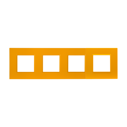 SCHNEIDER ELECTRIC - MGU4.708.29 декоративна рамка четворна цитрус Unica Quadro