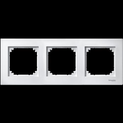 SCHNEIDER ELECTRIC - MTN515325 рамка тройна активно бяла M-Plan Merten
