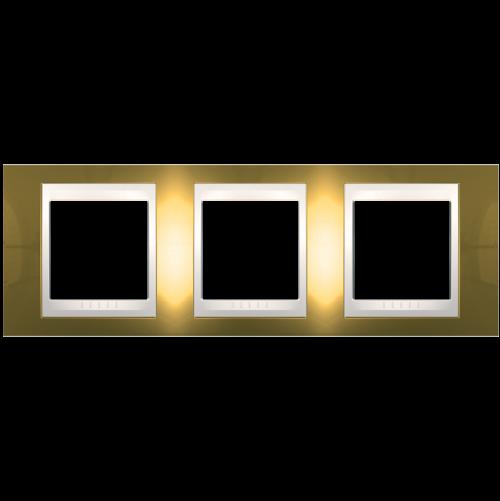 SCHNEIDER ELECTRIC - MGU66.006.504 рамка Unica Plus тройна злато/слонова кост