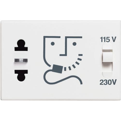 BTICINO - RW4177 Контакт за самобръсначка 3 мод. 230V Classia бял
