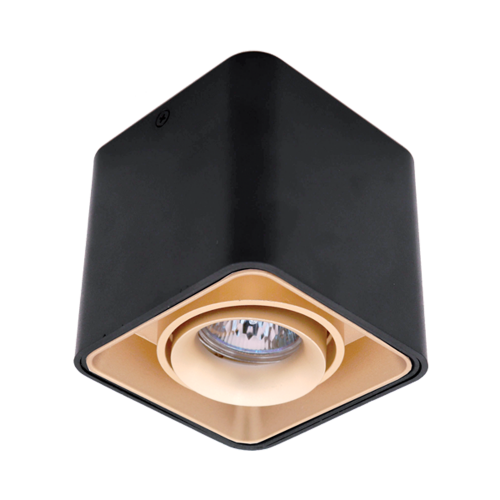 ELMARK - DL-044 Лунa за външен монтаж черна/злато квадратна 92DL044S1/GDBL