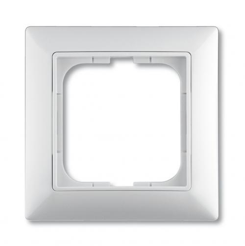 ABB - 1725-0-1479 Cover frame with decorative styling frame, alpine white, Cover Frames basic55