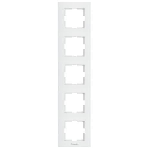 PANASONIC - Петица рамка вертикална бяла Panasonic Kare WKTF08152WH‐EU1
