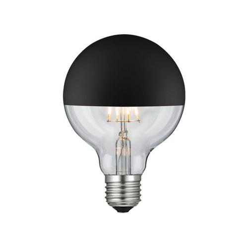 ACA LIGHTING - LED крушка обратен рефлектор черна FILAMENT димираща G95 E27 6W 2700K 690lm GLOBE956WWDIMBL