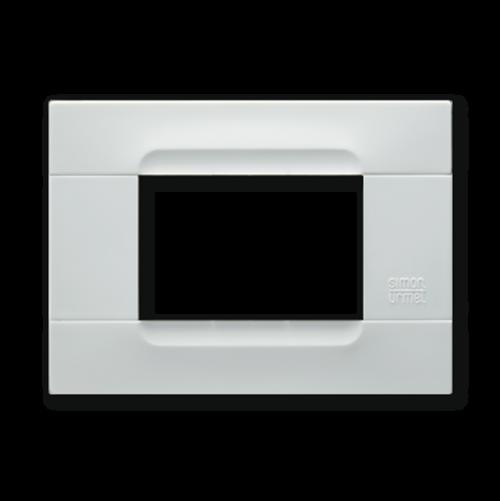 SIMON URMET - 10803.B.01 White Helsinki Technopolymer Kadra тримодулна рамка