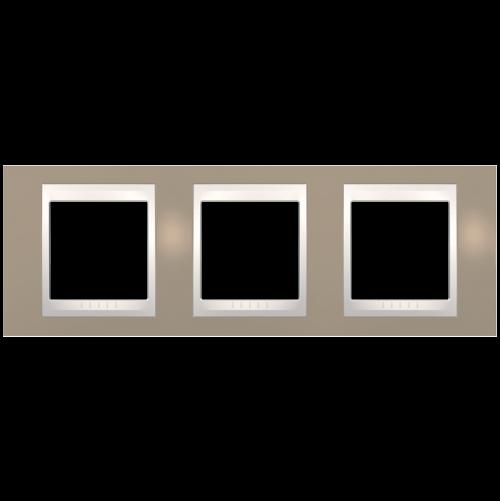 SCHNEIDER ELECTRIC - MGU6.006.574 рамка Unica Plus тройна млечно кафяв/слонова кост