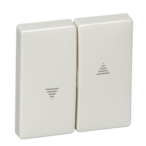 SCHNEIDER ELECTRIC - MTN411519 Лицев панел за ключ/бутон за щори полярно бял Antique