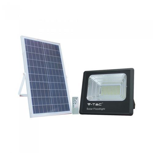 V-TAC - 50W LED Прожектор с Фотоволтаичен Панел 4000К SKU: 8578 VT-300W
