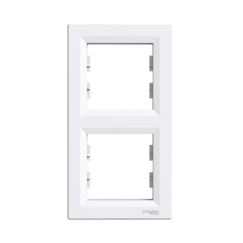 SCHNEIDER ELECTRIC - EPH5810221 Декоративна рамка вертикална двойна Asfora бяла