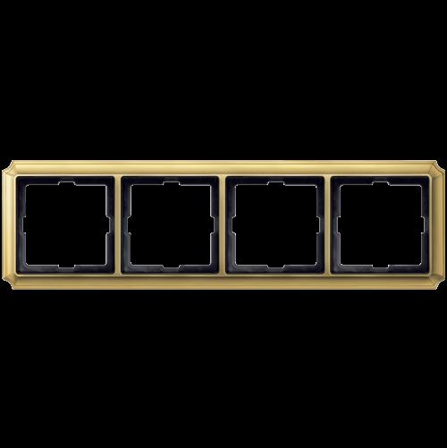 SCHNEIDER ELECTRIC - MTN483421 рамка четворна полиран месинг Antique Merten