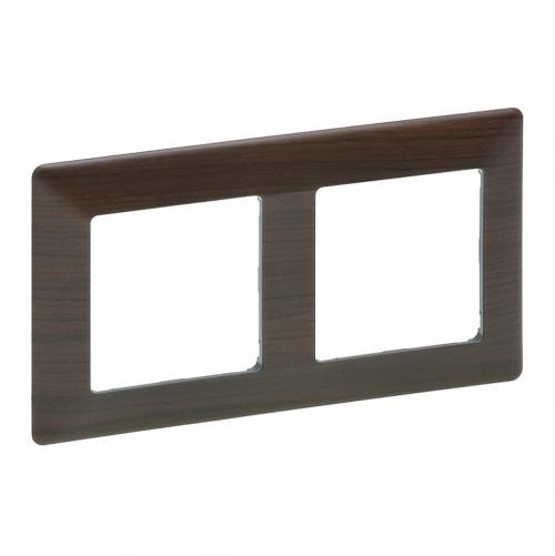 LEGRAND - 7 541 72 Plate Valena Life - 2 gang - dark wood