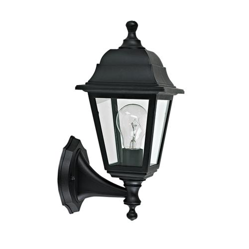 ACA LIGHTING - Градински фенер черен влагозащитен IP44 PLGP1B