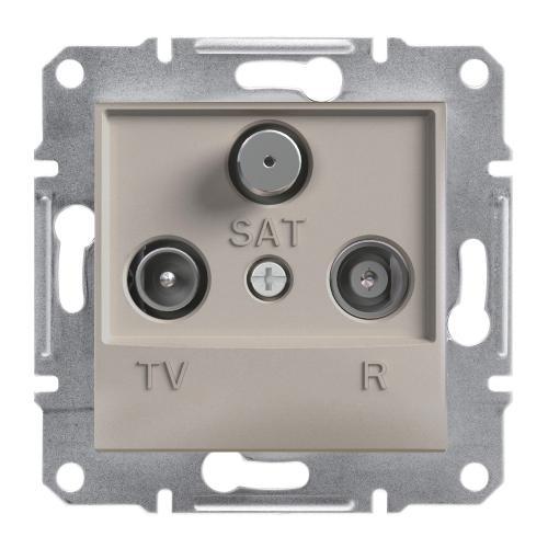 SCHNEIDER ELECTRIC - TV-R-SAT розетка крайна 1dB бронз Asfora EPH3500169