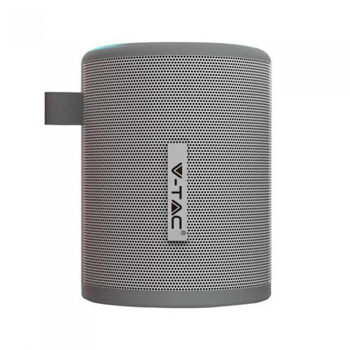 V-TAC -  Преносима Bluetooth Колона Micro USB 1500mah Сива SKU: 7720 VT-6244