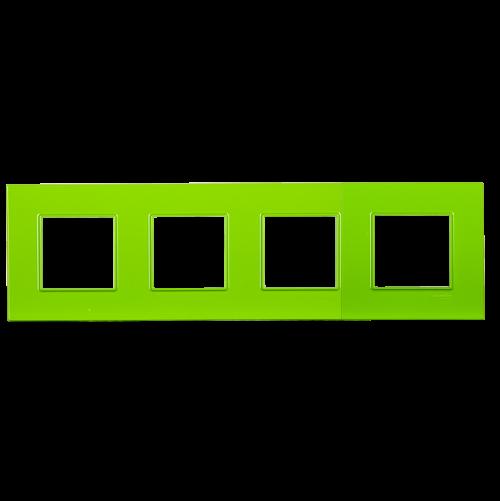 SCHNEIDER ELECTRIC - MGU4.708.28 декоративна рамка четворна био Unica Quadro
