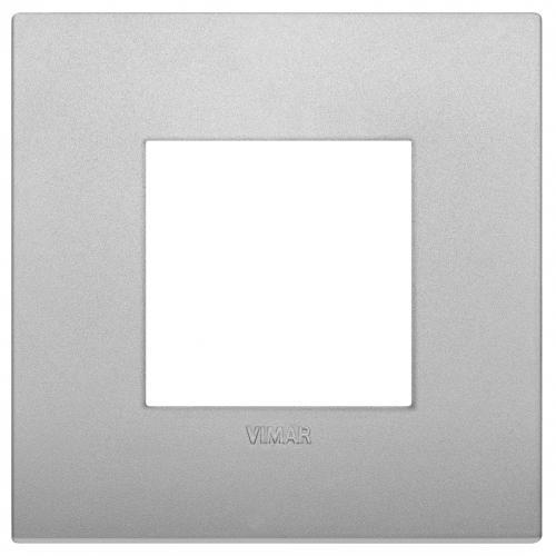 VIMAR - 19642.79 - Arke Двумодулна рамка Classic технополимер matt silver
