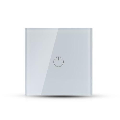 V-TAC - Единичен Ключ Touch Бял Стъкло SKU: 8354 VT-5111