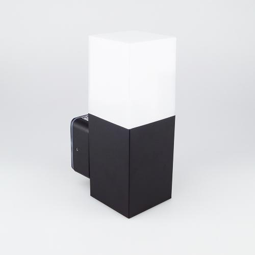 V-TAC - GU10 Градинска Стенна Лампа Черна Квадрат IP54 SKU: 7563 VT-7613