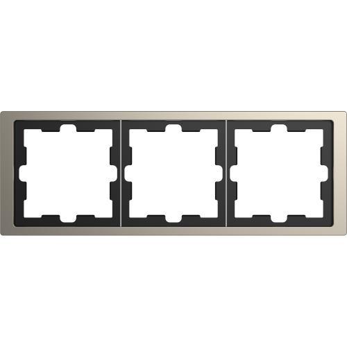SCHNEIDER ELECTRIC - MTN4030-6550 рамка тройна метална никел D-Life Merten