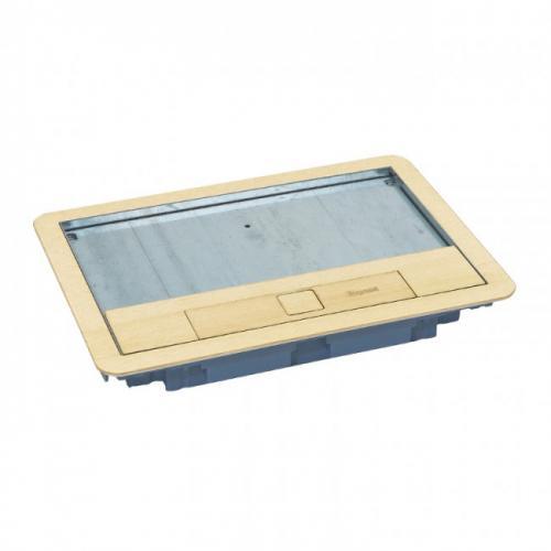 LEGRAND - 88006 Капак за подова кутия 8 мод. вертикален, 12 мод. хоризонтален монтаж месинг