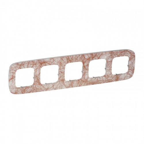 LEGRAND - Петорна рамка ALLURE 754495 метални нишки