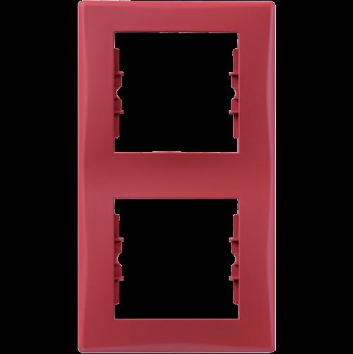 SCHNEIDER ELECTRIC - SDN5801141 декоративна рамка Sedna вертикална двойна червена