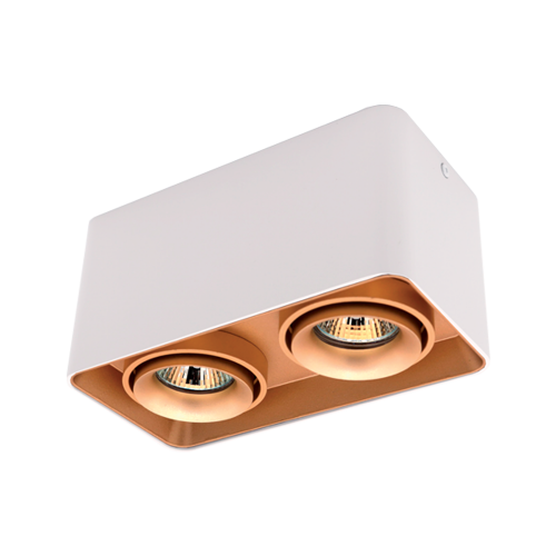 ELMARK - DL-044 Лунa за външен монтаж двойна бяла/злато квадратна 92DL044S2/GDWH