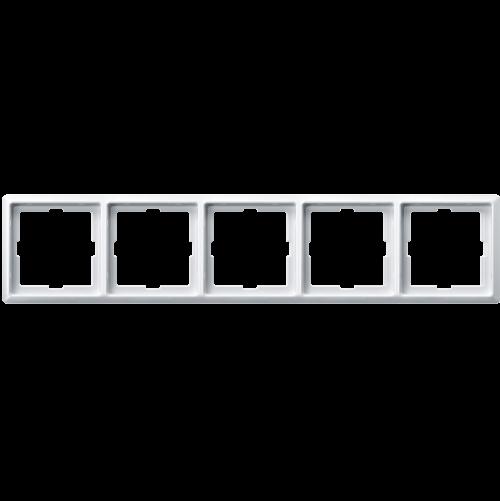 SCHNEIDER ELECTRIC - MTN481519 рамка петорна полярно бяло Artec Merten