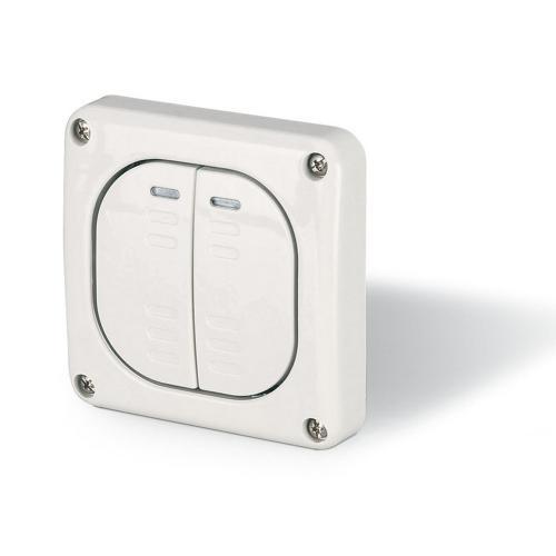 SCAME - Двоен еднополюсен /сериен/ ключ за скрит монтаж IP66, серия Protecta 137.3021