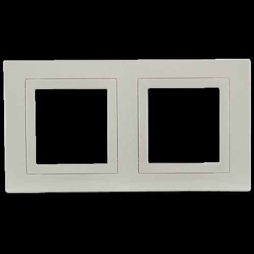 SCHNEIDER ELECTRIC - MGU2.004.25 декоративна рамка Unica Basic двойна слонова кост