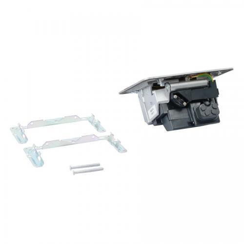 LEGRAND - 654014 Подова кутия 4 модула матиран алуминий (Matt aluminium) с включен монтажен кит