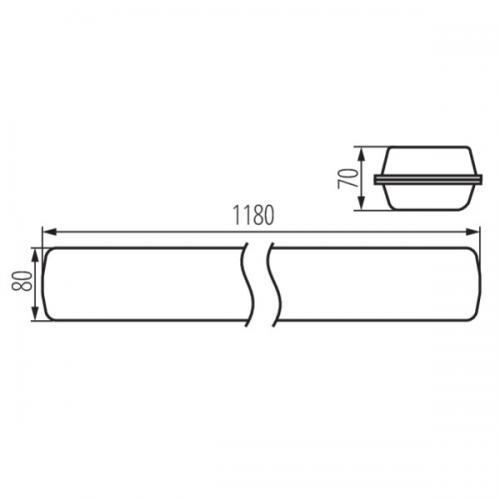 KANLUX - Прахохерметично осветително тяло MAH LED HI 26W-NW RYF IP65 26W 3900lm 4000K 22609