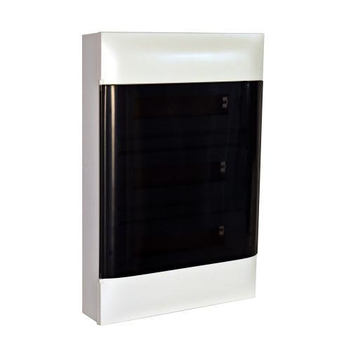 LEGRAND - Табло за открит монтаж 3x12 мод. Practibox S с прозрачна врата и Н и РЕ клеми 135213