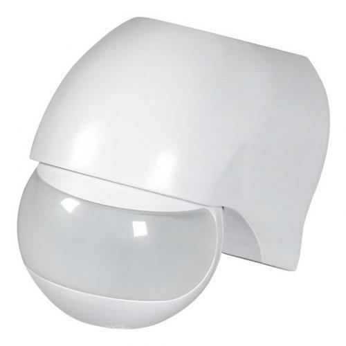 COmmel - Датчик за движение PIR, за открит монтаж на стена, 180°, обхват 12m @ h=2.3m, IP44, цвят Бял Commel 310-101