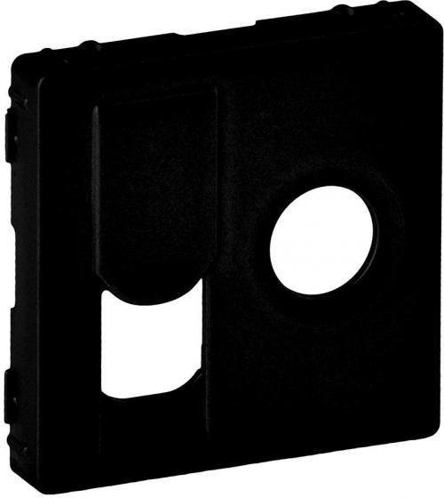 LEGRAND - Лицев панел за TV+RJ45 розетка цвят Черен Valena Life 756832