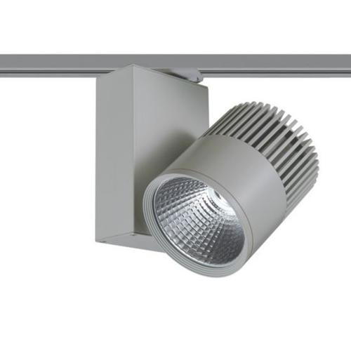 ACA LIGHTING - Релсов прожектор LED 30W 3000K за монофазна шина сив BIENAL3030G2