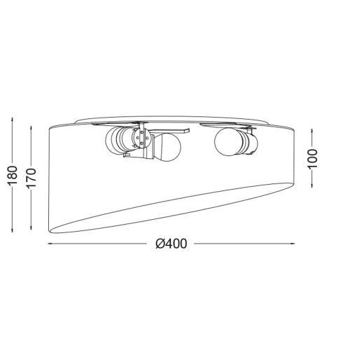 ACA LIGHTING - Плафон  TEXTILE & CRYSTAL  AD8030PP
