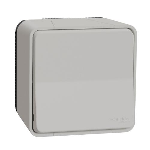 SCHNEIDER ELECTRIC - Влагозащитен Лихт бутон за открит монтаж MUR39026 Mureva Styl бял