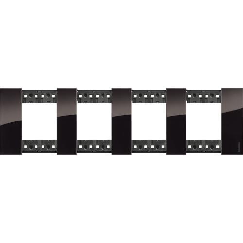 BTICINO - Рамка 4x2 мод. немски стандарт цвят Нощ Living Now Bticino KA4802M4DG