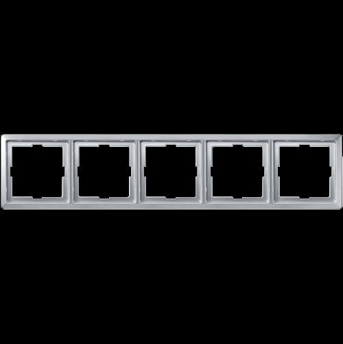 SCHNEIDER ELECTRIC - MTN481560 рамка петорна алуминий Artec Merten
