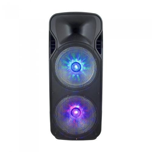 V-TAC - 150w мобилна колона, 1 безжичен микрофон и 1 микрофон с кабел, RF контрол, RGB , 2*15inch говорителя SKU: 7733 VT-6215-2