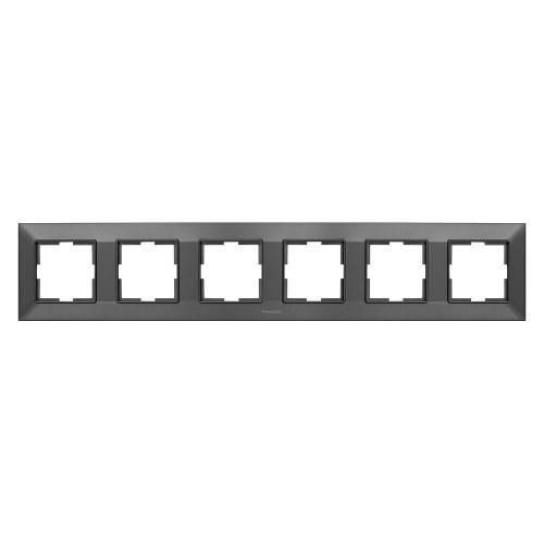PANASONIC - Рамка шесторна хоризонтална тъмносиво PANASONIC Arkedia slim WNTF0806-2DG