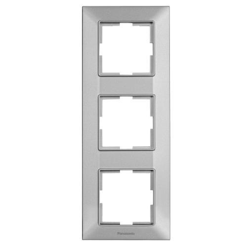 PANASONIC - Рамка тройна вертикална сиво PANASONIC Arkedia slim WNTF0813-2SL