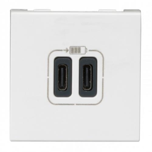 LEGRAND - 77590 USB розетка за зареждане тип А 5V 1.1A 5.5W 2 мод. Mosaic бял