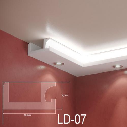 ADORN - Декоративен корниз за индиректно-осветление LD-07-2m 185х87 мм
