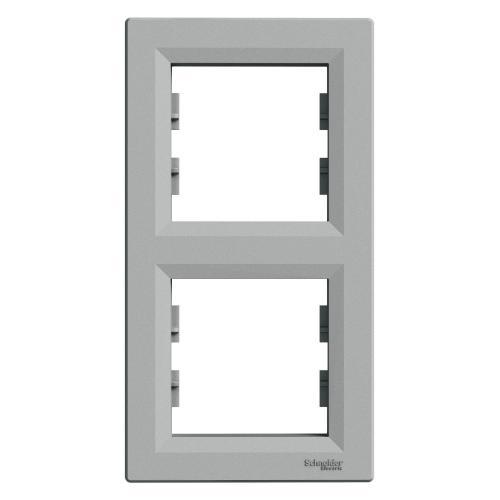 SCHNEIDER ELECTRIC - EPH5810261 Вертикална Рамка Двойна Asfora Алуминий